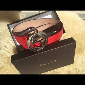 💯 authentic Gucci belt